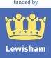 new funded by Lewisham logo blue